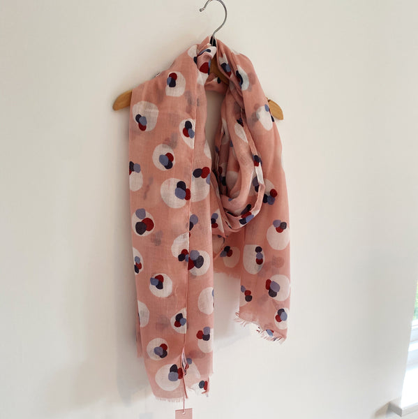 PERFECTLY PINK BOBBLE SPOT SCARF
