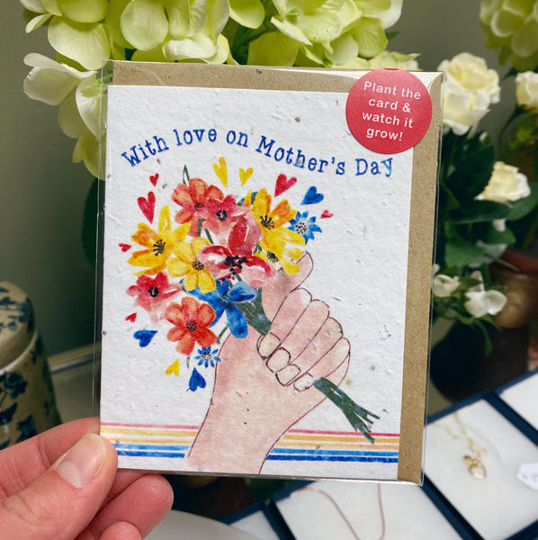WITH LOVE ON MOTHERS DAY SEED CARD