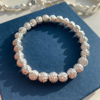 SILVER PLATED TACTILE BEAD BRACELET