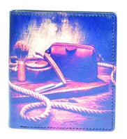 MENS PRINTED LEATHER WALLET