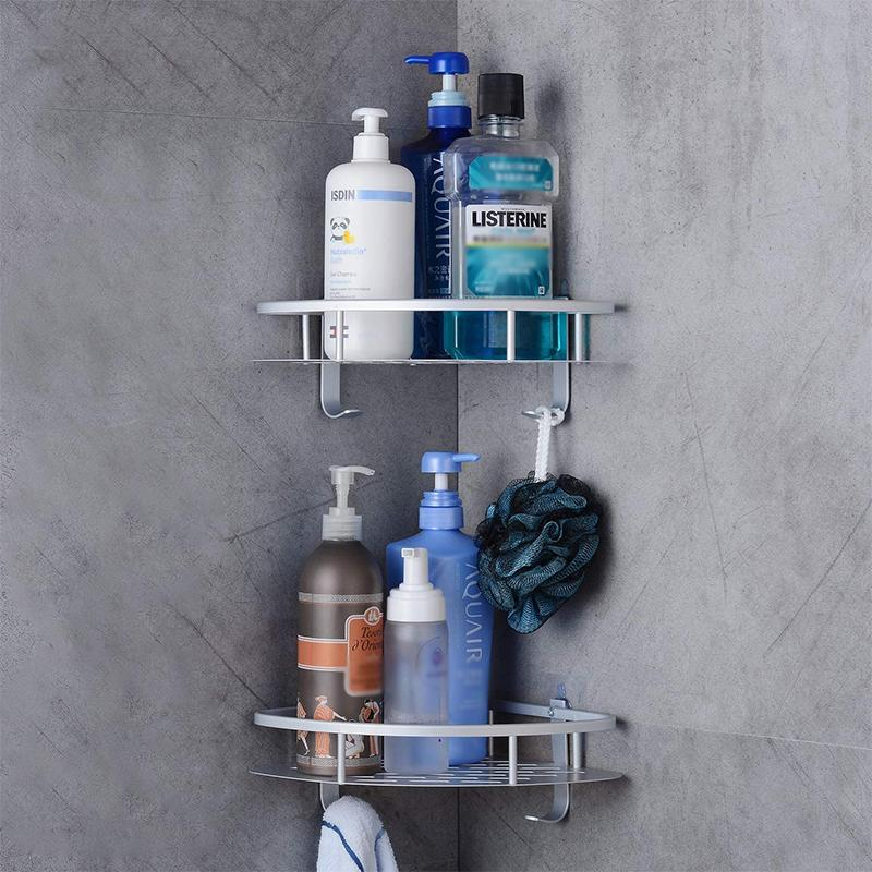 Bathroom Shower Shelf with Hooks