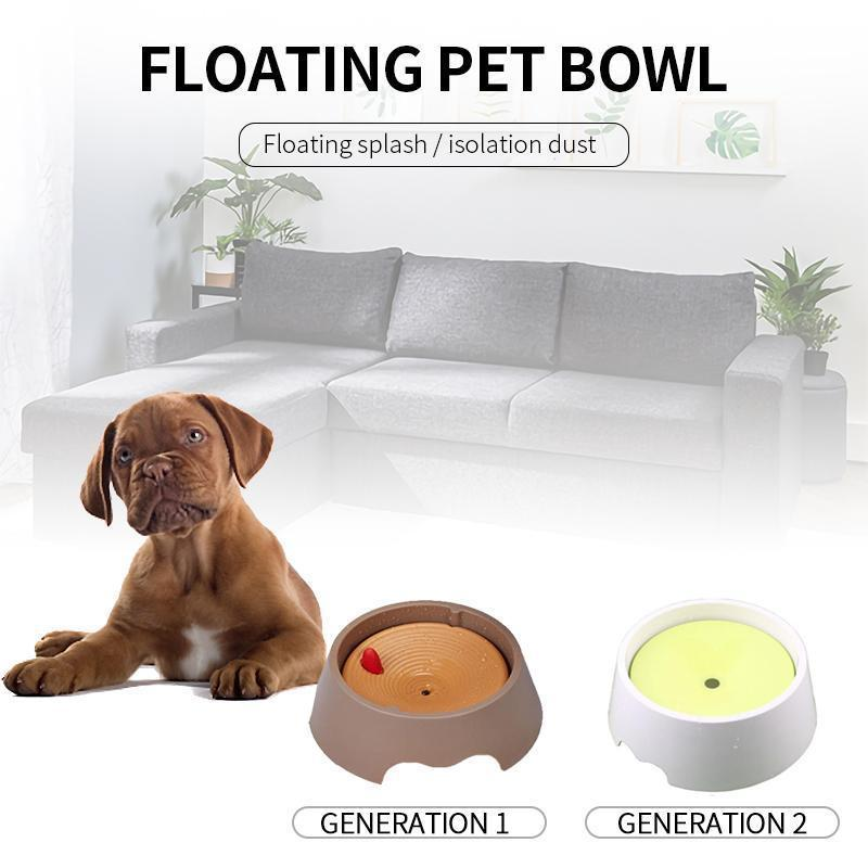 Floating Pet Bowl Splash Proof Drinking Bowl