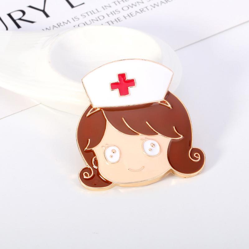 Love Heart Stethoscope Mini Brooch
