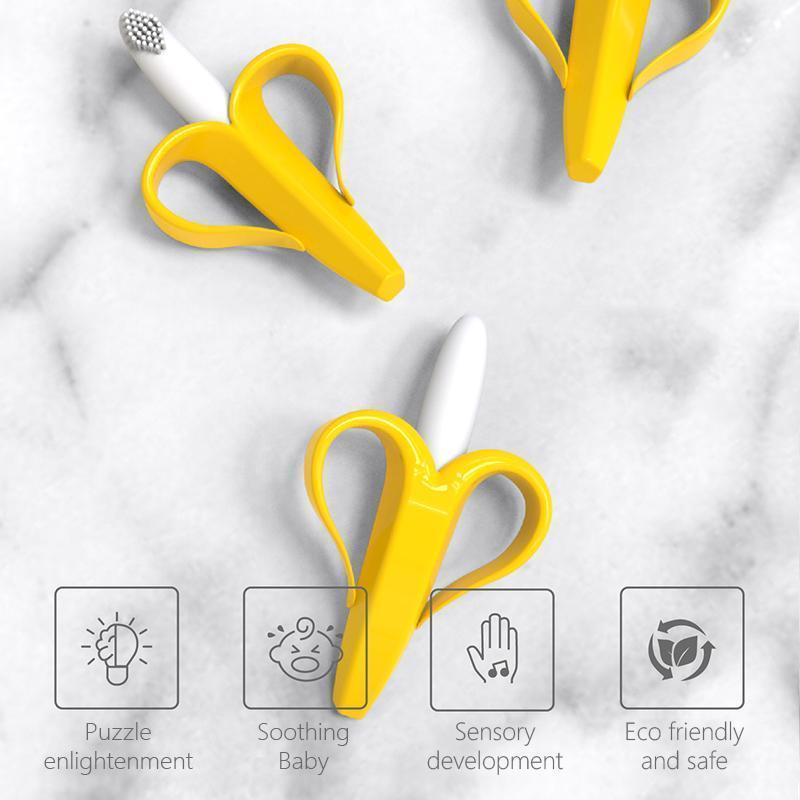 Baby Banana Training Toothbrush & Teether