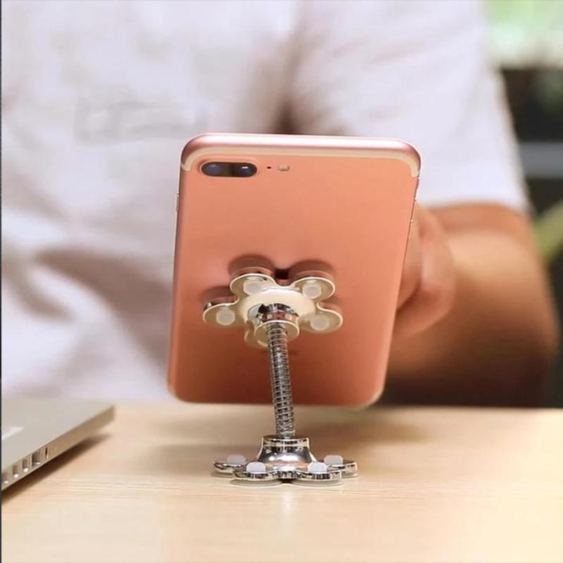 【SUMMER SALE:50% OFF TODAY】360° Flower Suction Phone Holder
