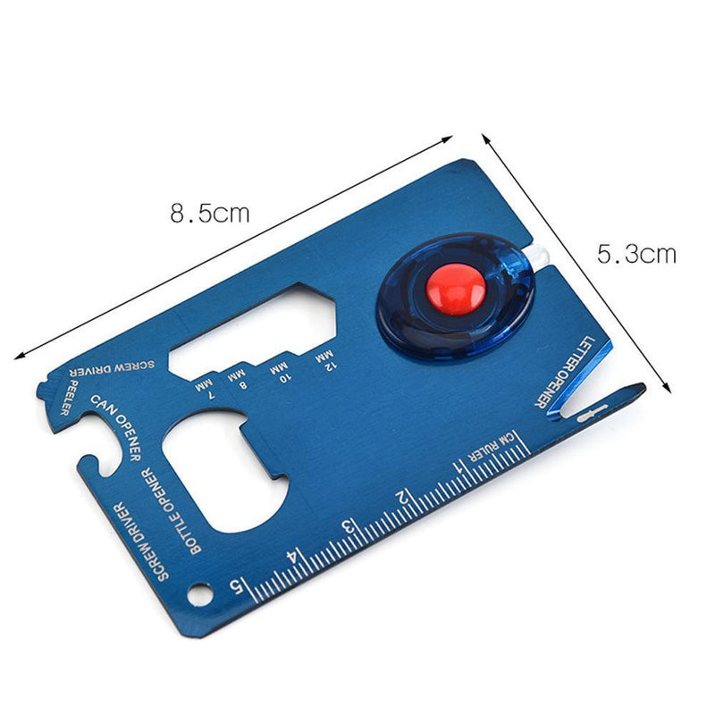 EDC Multifunctional Card with Led Light
