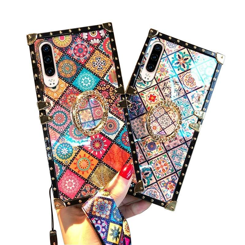 Bohemian Retro Crystal Bracket Phone Case for iPhone