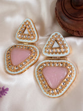 Load image into Gallery viewer, Classic Kundan Earrings - Pink