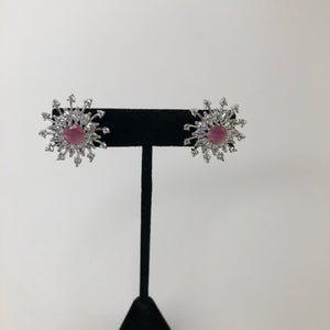 Pink AD Earrings
