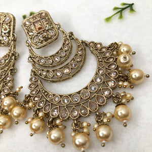 Necklace Set With Oversized Earrings