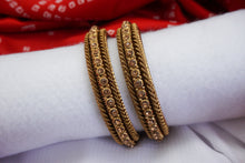 Load image into Gallery viewer, Gold Tone Polki Bangles