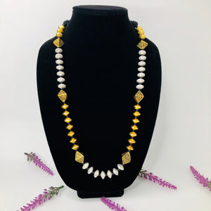 Indo Western Classic Necklace With 2 Tone Plating