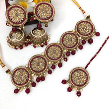 Load image into Gallery viewer, Round Polki Neckpiece Set