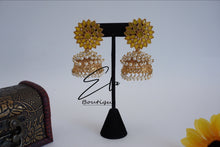 Load image into Gallery viewer, Pearl Clustered Jhumkas