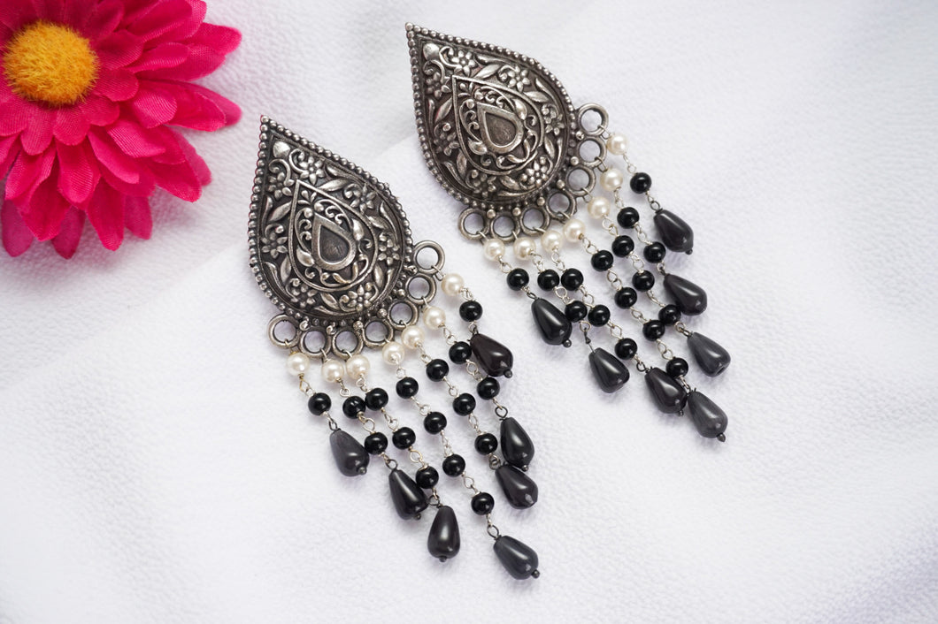 Tribal Statement Earrings - Black