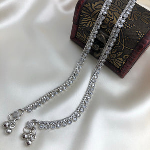 Antique Silver Tone Payal
