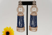 Load image into Gallery viewer, Rose Gold Tone AD Earrings