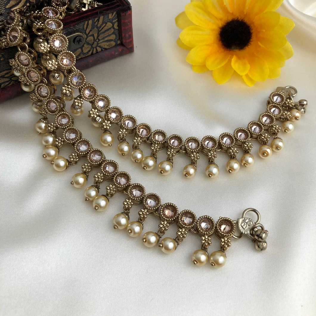 Studded Polki with Pearl