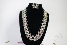 Load image into Gallery viewer, Peacock Long Kemp Necklace Set With Black Rhodium Plating