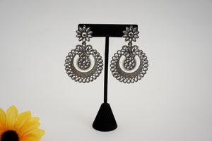 Classic Earrings With Black Plating