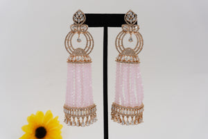 Rose Gold Tone AD Earrings