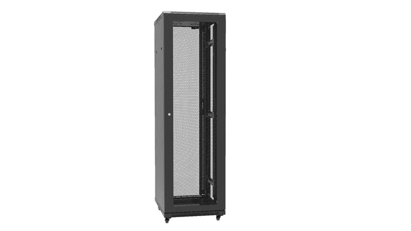 APSYS 18U FLOOR STAND CABINET 600*600 ONE FIXED SHELF, FOUR FAN, FOUR CASTOR & SUPPORTING FEET. FRONT GLASS DOOR