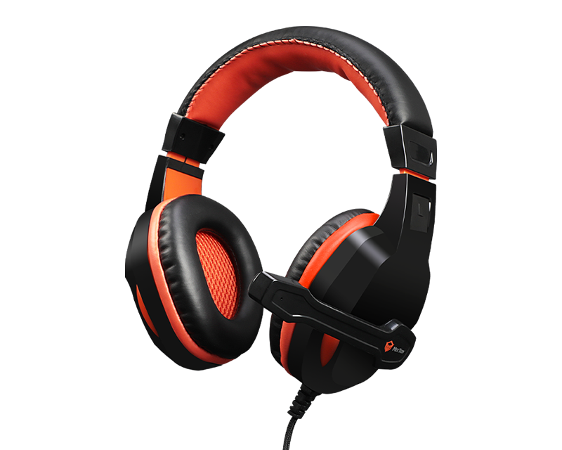 Scalable Noise-canceling Stereo Leather Wired Gaming Headset HP010