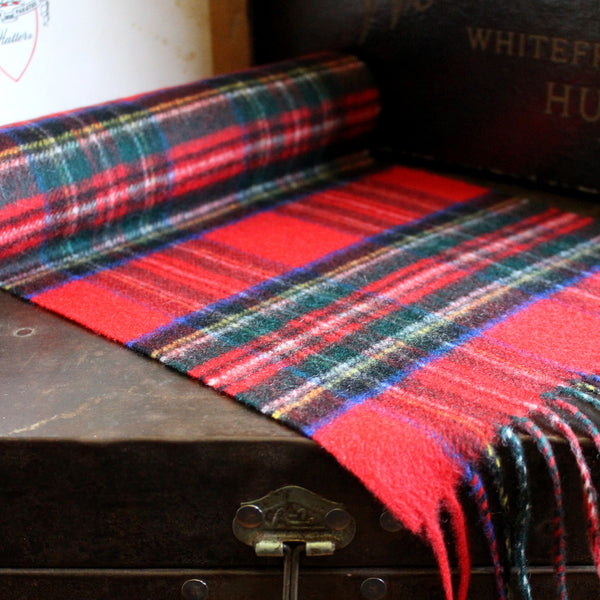 SCOTTISH CASHMERE SCARF - ROYAL STEWART - 1