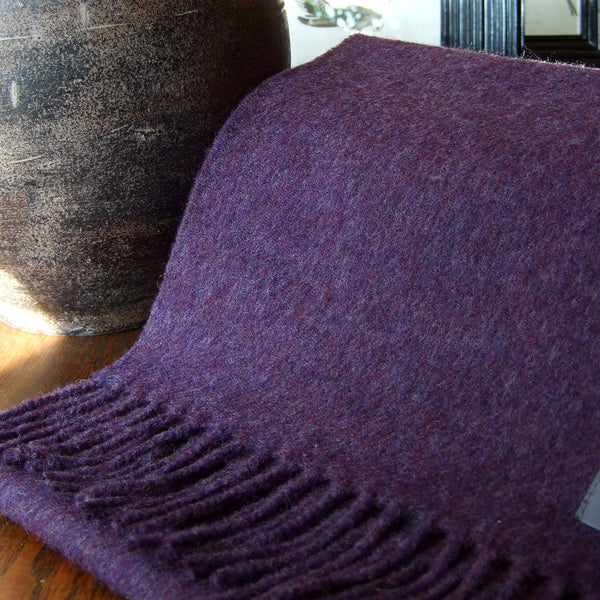 PLAIN DEEP PURPLE - ENGLISH SCARF