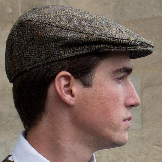 Harris tweed - cap - brown - main