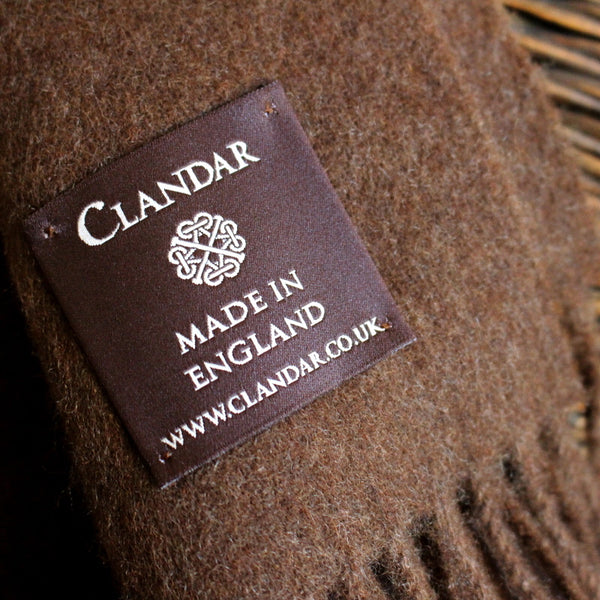 MEN'S BRITISH CASHMERE SCARF - HAVANA BROWN