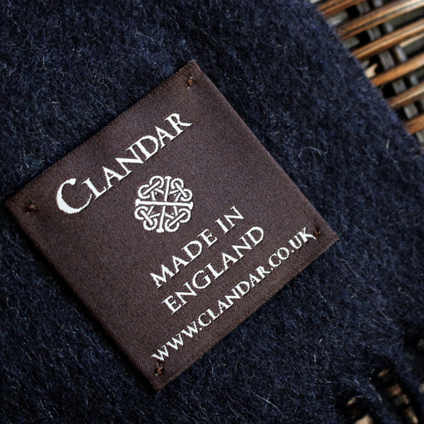 MEN'S BRITISH CASHMERE SCARF - NAVY