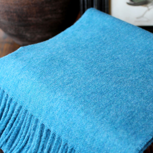 PLAIN SEA BLUE - ENGLISH SCARF