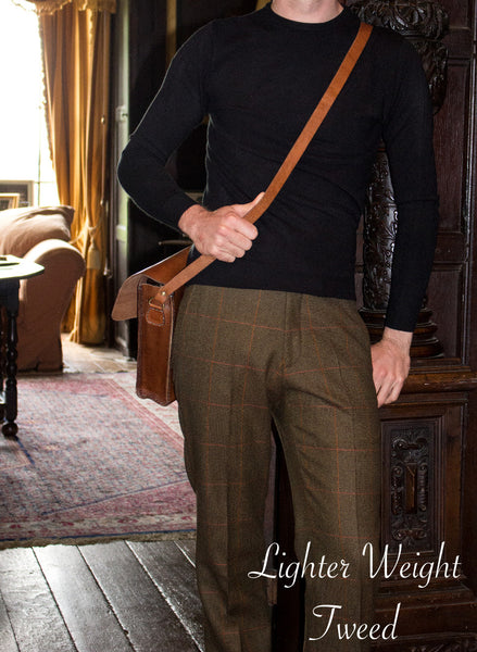 Tweed trousers - thinner tweed brown