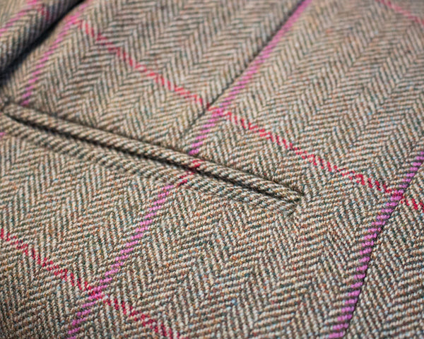 EXCLUSIVE - LADIES BRITISH TWEED JACKET - STONE & BERRY