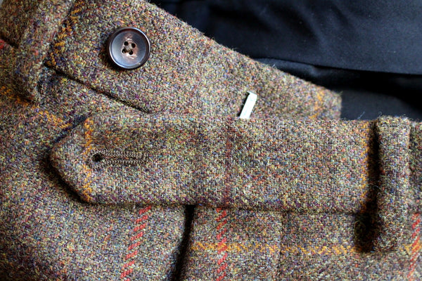 Tweed trousers - tab fastening