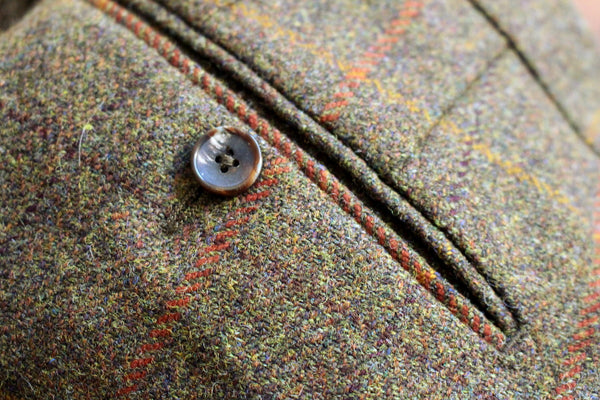 Tweed trousers - horn button