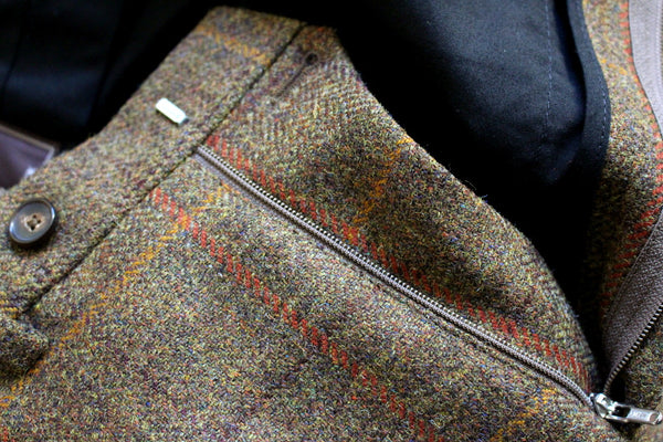 Tweed trousers - fly