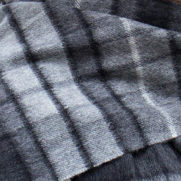 Cashmere scarf - grey check