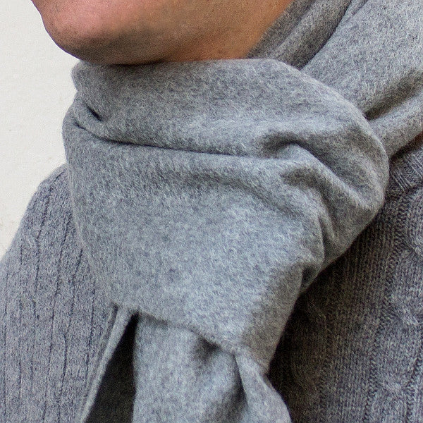 cashmere scarf - silver grey - PIC MEN