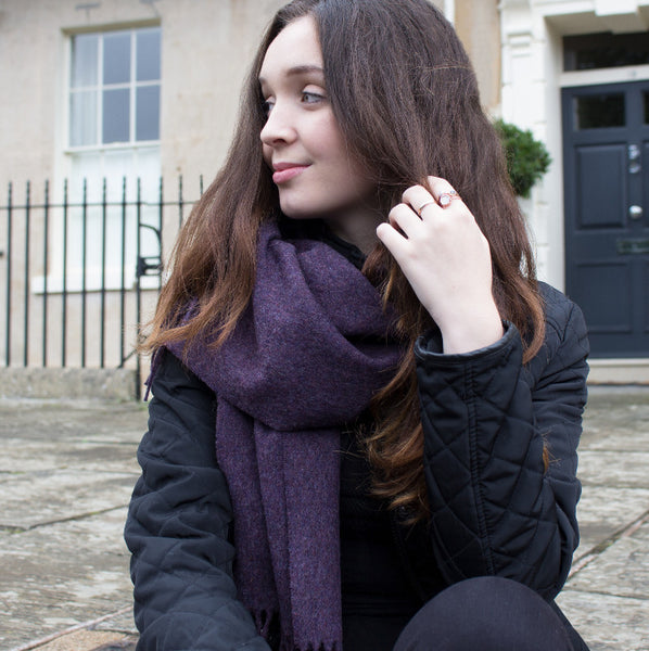 merino scarf purple