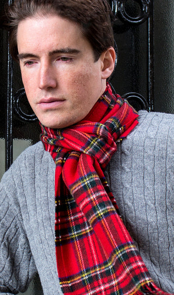 MEN'S ROYAL STEWART TARTAN - ENGLISH SCARF