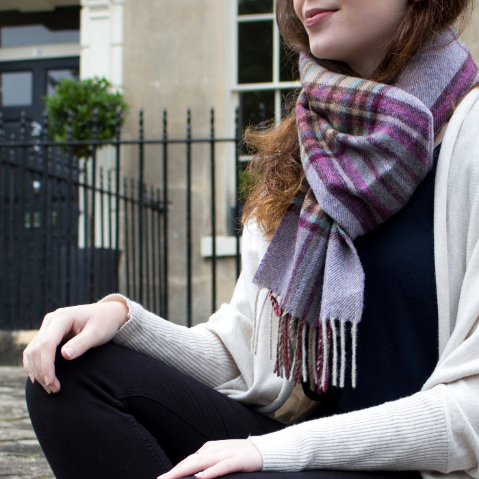 LILAC CHECK - ENGLISH SCARF