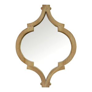 "14"" X 1.25"" X 19"" Natural Wood White Fir Wood Mirror Mdf Wall Mirror"