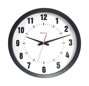 Westclox  14 in. L x 12 in. W Indoor  Analog  Wall Clock  Plastic