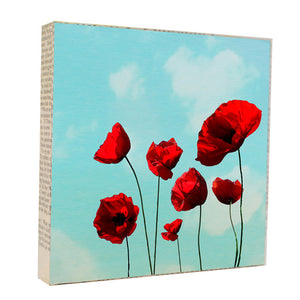 Poppies 5x5 Art Block