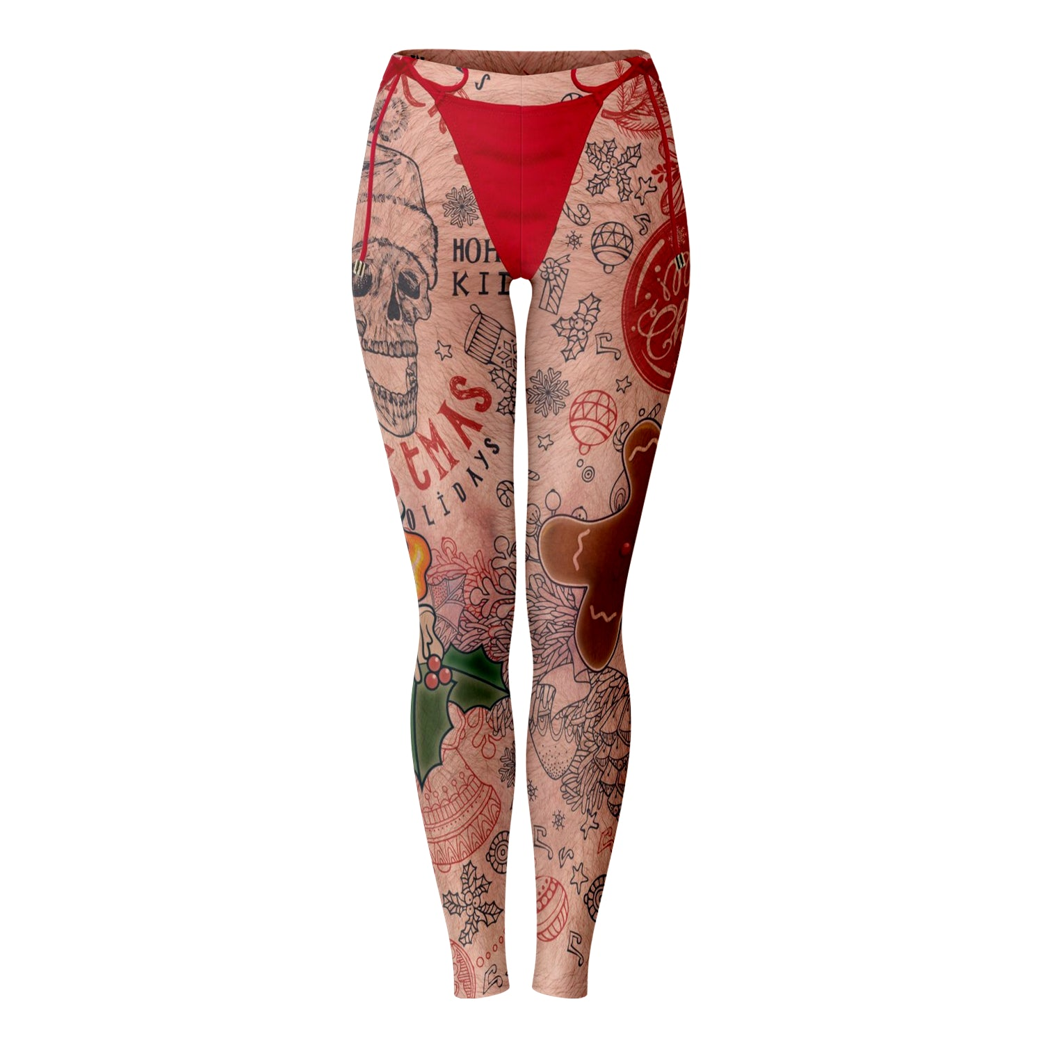 Santa's Tattooed Baby All Over Print Leggings