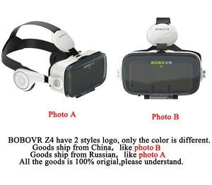 BOBOVR Z4 Leather VR Glasses Headset, Gift for Gamers, Gift for Kids, Gift for Him