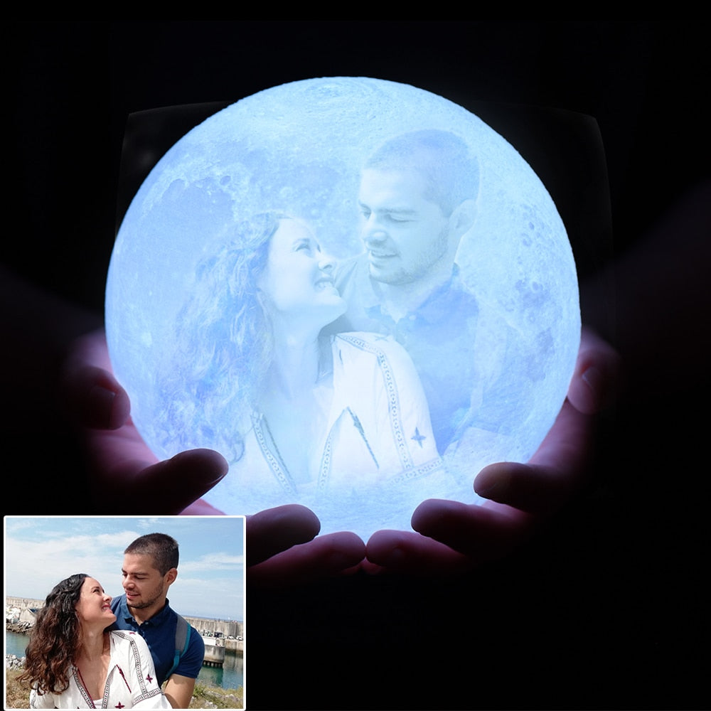 Customized Photo Moon Lamp