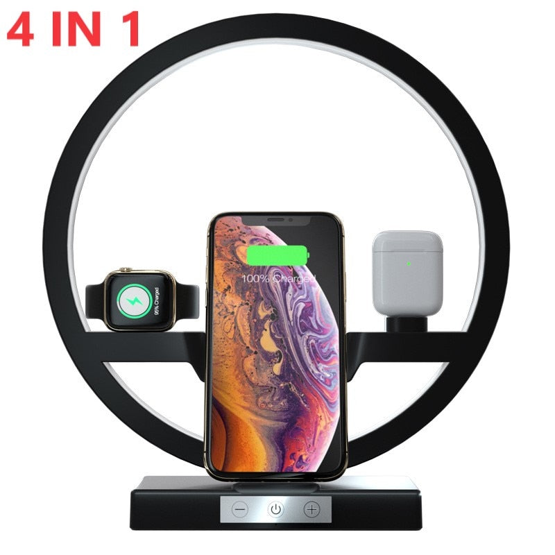 4 in 1 QI Fast Wireless Charger Dock Station